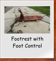 Footrest with Foot Control